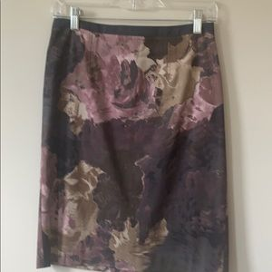 Fall floral skirt
